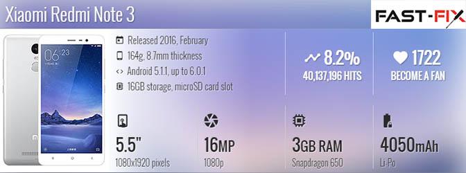Ремонт Redmi Note 3