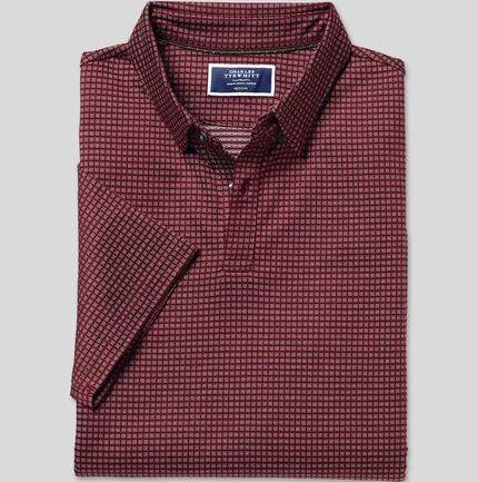 jacquard-cotton-polo-burgundy