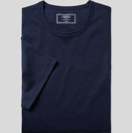 Smart Jersey Tyrwhitt T-Shirt - Navy
