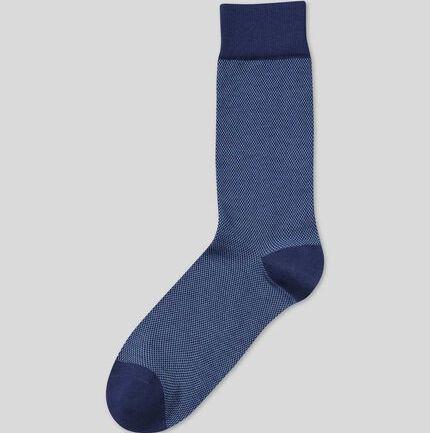 Jacquard Socks - Sky & Navy