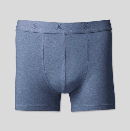 Cotton Stretch Jersey Trunks - Blue