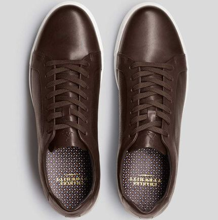 Chocolate Leather Trainers