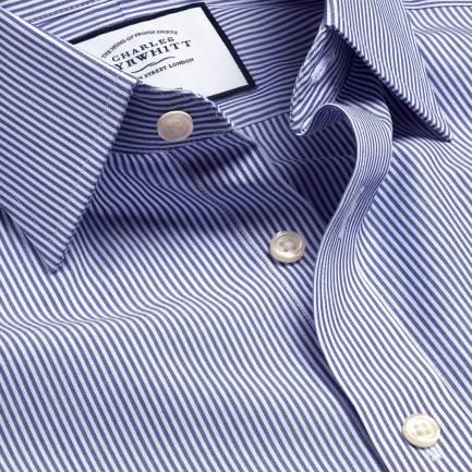 Non-Iron Bengal Stripe Shirt - Navy