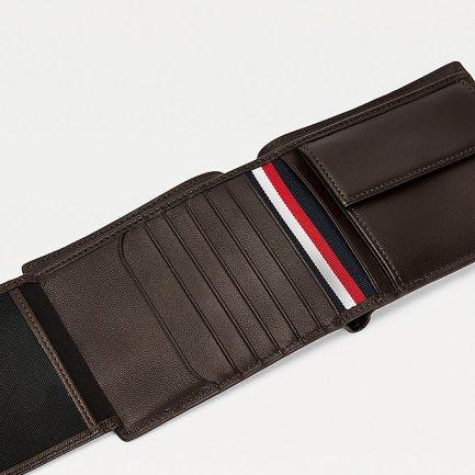 TH Metro RFID Wallet leather dark brown