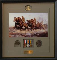 Framed Australian Army Medals, WWII