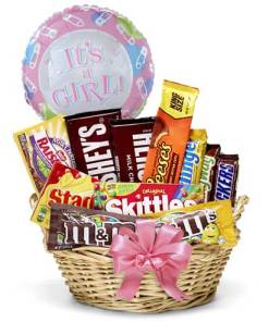 Baby Girl Candy Basket