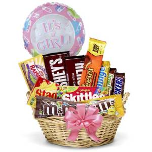 Baby Girl Candy Basket