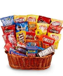 Chips Candy and More Birthday Gift Basket