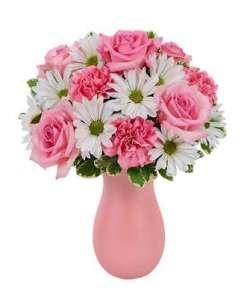 Daisy & Rose Delight Flower Bouquet
