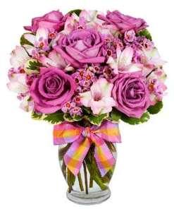 Delightfully Purple Flower Bouquet