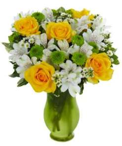 Lovely Lemon & Lime Roses Bouquet