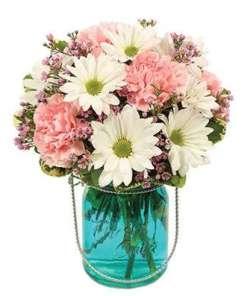 Quaint Blue Flower Bouquet