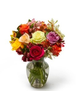 Roses and Alstros Flower Bouquet