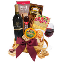 Classic Red Wine Gift Basket 69.99