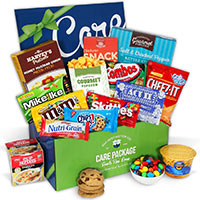 Share: Facebook Twitter Pinterest Other Gifts You May Be Interested In Exam Cram Care Package Exam Cram Care Package $44.99 Send a Bear Hug Care Package Send a Bear Hug Care Package $39.99 Birthday Care Package Birthday Care Package $49.99 Snack Gift Basket - Jumbo Snack Gift Basket - Jumbo $199.99 Junk Food Care Package