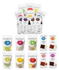 Sugarpova Gummy Candy & Premium Chocolate Basket 77.99