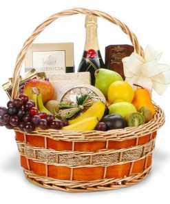 Champagne Fruit Gourmet Gift Basket