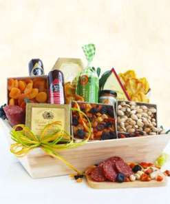 Meat and Cheese Gift Basket Sausage