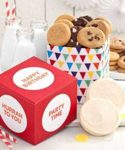 Mrs Fields Birthday Cookie Box