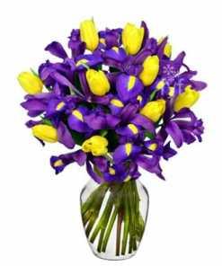 Spring Tulip and Iris Bouquet