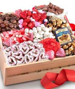 Valentines Day Gourmet Chocolate Basket
