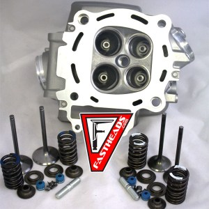 New Honda CRF450R Head with Del West CrN PVD coated titanium valves