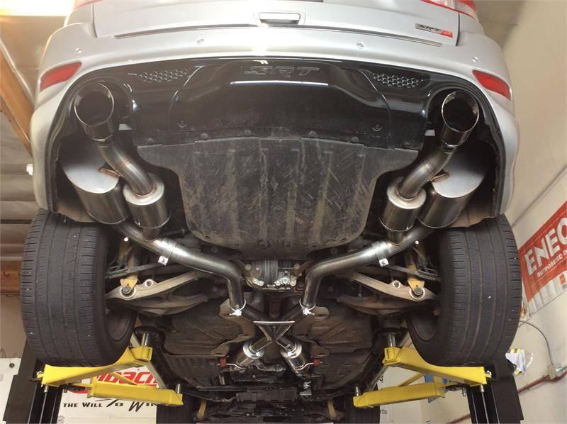 Corsa Sport Cat Back Exhaust Black Jeep Grand Cherokee