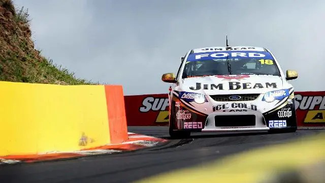 James Courtney racing at Bathurst