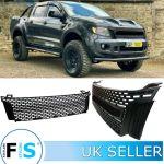 Ford Ranger Raptor T6 Matte Black Front Grille Fastlane Styling