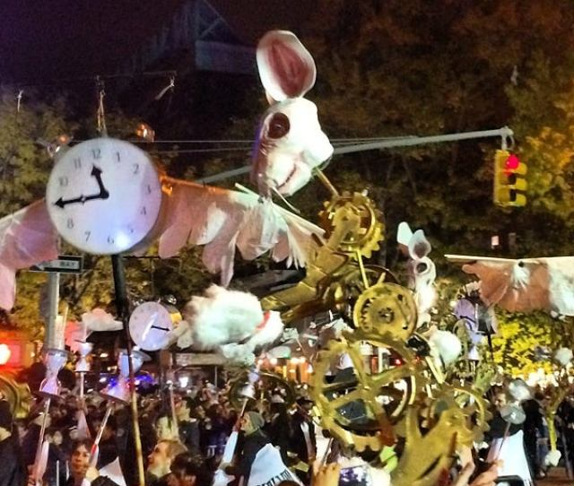 Photo Taken At Nyc Village Halloween Parade By Greg W On