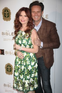 MARK BURNETT AND ROMA DOWNEY at the opening exhibit '' The Bible Experience'' in celebration of the miniseries ''THE BIBLE'' Photo by John Barrett