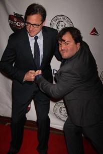 JACK BLACK,BOB SAGET at the Friars Club honoring Jack Black at NY Hilton 4 5 2013 John Barrett/Globe Photo 2013