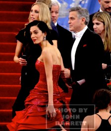 GEORGE CLOONEY and Wife AMEL at MET GALA 5-4-2015 John Barrett/Globe Photos 2015