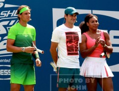 RAFAEL NADAL,ROGER FEDERER,SERENA WILLIAMS at Arthur Ashe Day at US Tennis Open 8-29-2015 John Barrett/Globe Photos 2015
