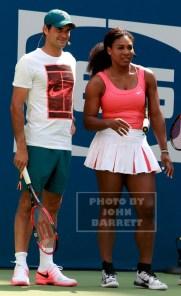ROGER FEDERER,SERENA WILLIAMS at Arthur Ashe Day at US Tennis Open 8-29-2015 John Barrett/Globe Photos 2015