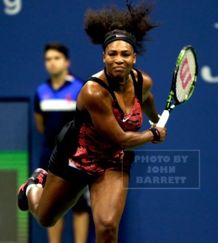 SERENA WILLIAMS US Open Tennis day 5 at Arthur Ashe Stadium 9-4-2015 Photo by John Barrett/Globe Photos 2015