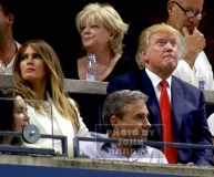 DONALD TRUMP.MELANIA TRUMP Celebs at US Open Tennis Day 9 at Arthur Ashe Stadium 9-8-2015 John Barrett/Globe Photos 2015