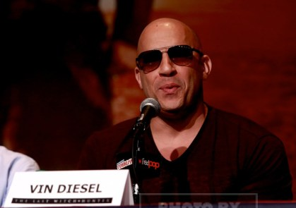 VIN DIESEL, attends the''The Last Witch Hunter'' panel at day 4 of NY Comic Con at Javits center 10-11-2015 John Barrett/Globe Photos 2015