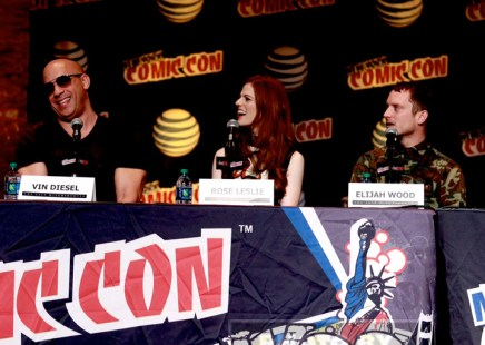 VIN DIESEL,ROSE LESLIE,ELIJAH WOOD attends the''The Last Witch Hunter'' panel at day 4 of NY Comic Con at Javits center 10-11-2015 John Barrett/Globe Photos 2015