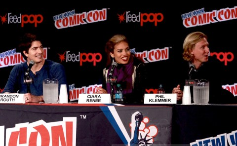 BRANDON ROUTH,CIARA RENEE,PHIL KLEMMER attends the'' DC's Legends of Tomorrow'' panel at day 4 of NY Comic Con at Javits center 10-11-2015 John Barrett/Globe Photos 2015
