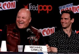 MICHAEL CHIKLIS,CORY MICHAEL SMITH attends the'' GOTHAM'' panel at day 4 of NY Comic Con at Javits center 10-11-2015 John Barrett/Globe Photos 2015