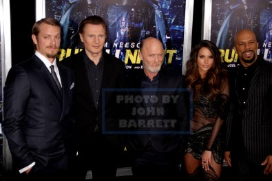 JOEL KINNAMAN,LIAM NEESON,ED HARRIS ,GENESIS RODRIQUEZ at NY Premiere of ''RUN ALL NIGHT'' AT AMC Lincoln Square 3-9-2015 John Barrett/Globe Photos 2015