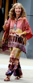 EMMA THOMPSON on the movie set of ''Ydkk'' or'' Yen Din Kia Kissa'' on west 78st 3-10-2016 John Barrett/Globe Photos 2016