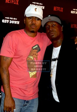 NAS ,GRANDMASTER FLASH at NY Premiere of ''The Get Down'' at Lehman Center for the Performing Arts 250 Bedford Park Blvd,Bronx 8-11-2016 Photos by John Barrett/Globe Photos 2016