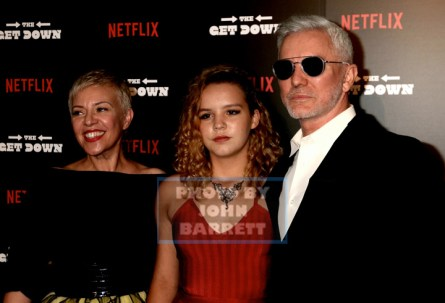 BAZ LUHRMANN ,wife,daughter at NY Premiere of ''The Get Down'' at Lehman Center for the Performing Arts 250 Bedford Park Blvd,Bronx 8-11-2016 Photos by John Barrett/Globe Photos 2016