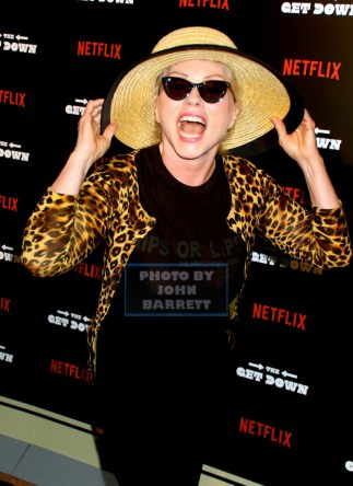 DEBBIE HARRY at NY Premiere of ''The Get Down'' at Lehman Center for the Performing Arts 250 Bedford Park Blvd,Bronx 8-11-2016 Photos by John Barrett/Globe Photos 2016