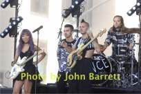 JOE JONES,JINJOO LEE,COLE WHITTLE,JACK LAWLESS from DNCE group performing on NBC ''Today'' show at Rockefeller center 8-26-2016 John Barrett/GlobePhotos 2016