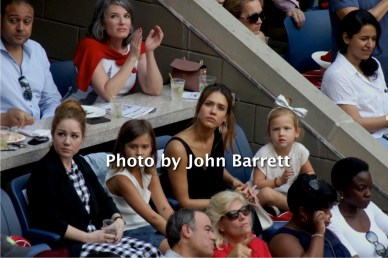 JESSICA ALBA with daughter HONOR 8,HAVEN 5 at Tennis US Open Day 13 at Flushing Meadow Park,Queens 9-10-2016 John Barrett/Globe Photos 2016