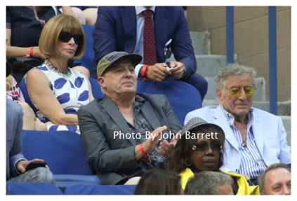 TONY BENNETT and son DANNY at Tennis US Open Day 14 at Flushing Meadow Park,Queens 9-11-2016 John Barrett/Globe Photos 2016