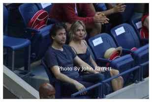 SIENNA MILLER,TOM STURRIDGE at Tennis US Open Day 14 at Flushing Meadow Park,Queens 9-11-2016 John Barrett/Globe Photos 2016